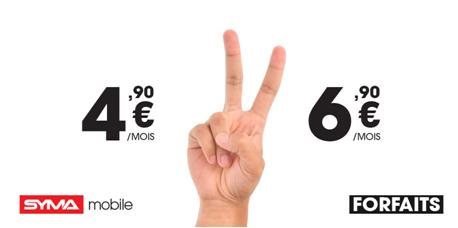 Syma mobile lance 2 nouveaux Forfaits