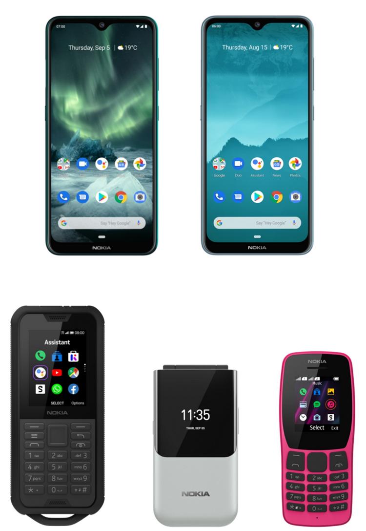 5 nouveaux modèles chez Nokia