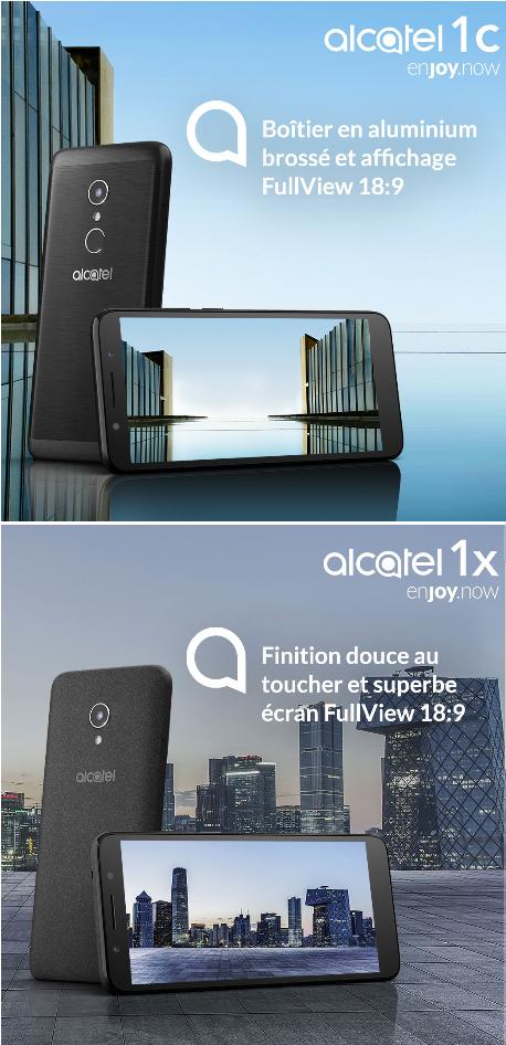 Alcatel dévoile ses nouveaux smartphones de la série Alcatel 1