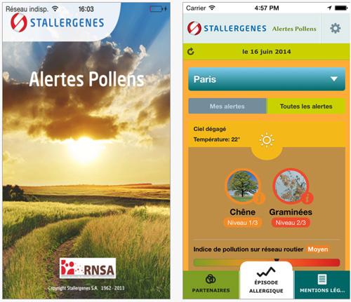 Alertes Pollens : une application qui permet d'évaluer le risque d'allergie