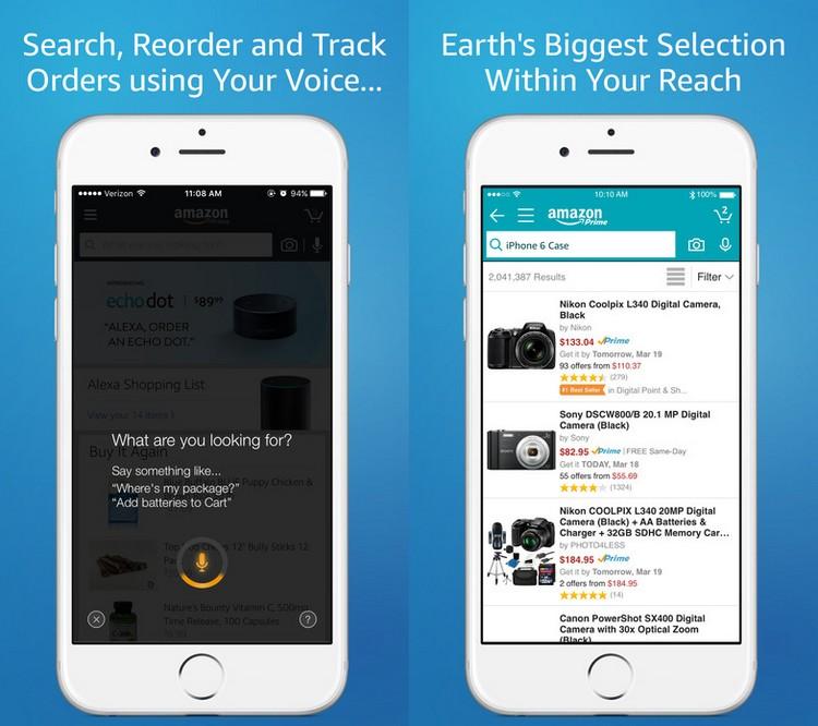 Alexa tente de faire face à Siri dans l'application Amazon sur iOS