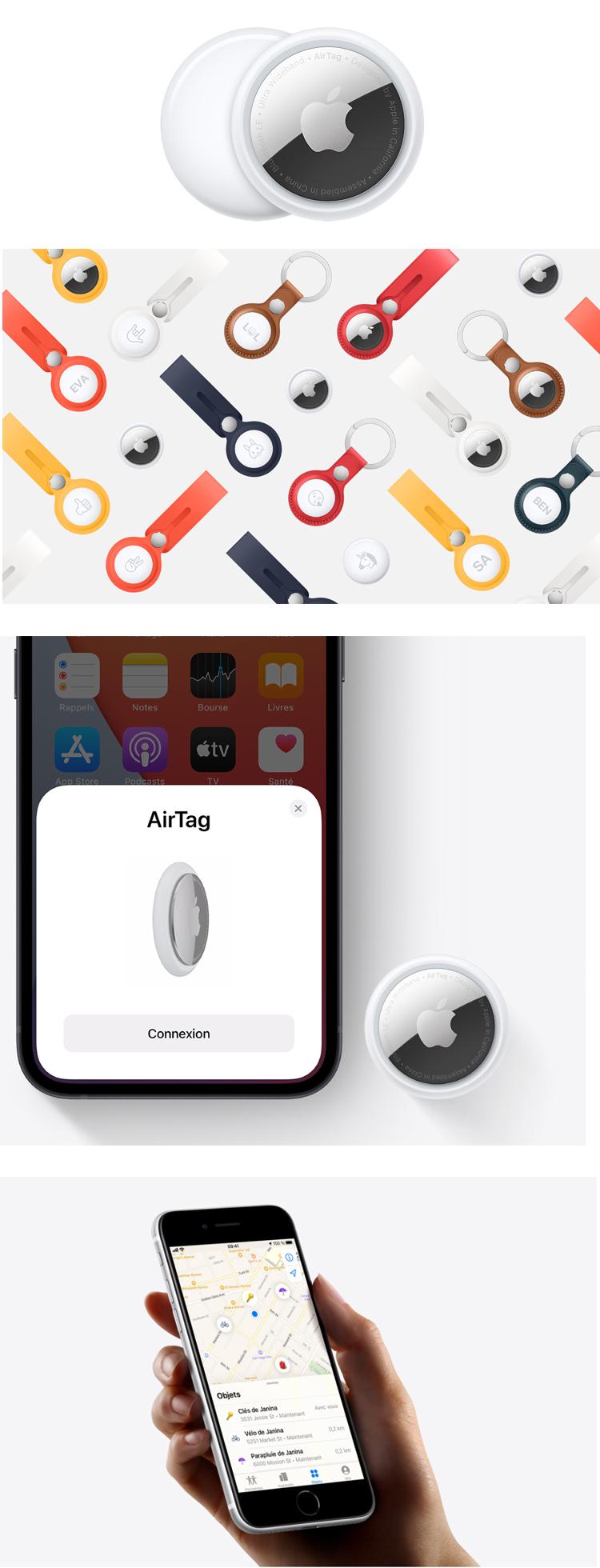 Apple lance Airtag : un traqueur qui permet de retrouver un objet depuis l'application Localiser