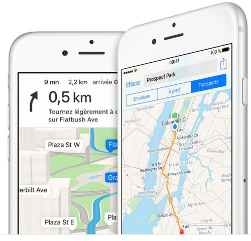 Apple Plans passe devant Google Maps
