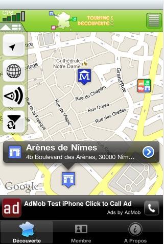 Application Tourisme Découverte : le guide touristique géolocalisé pour iPhone