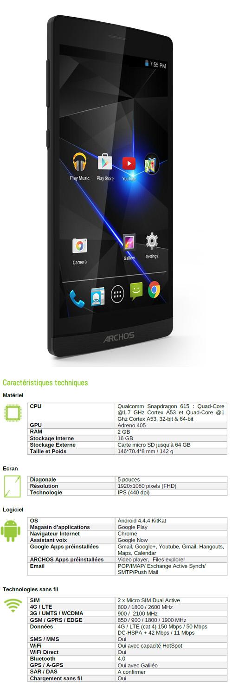 Archos 50 Diamond : un smartphone 4G à moins de 200 euros