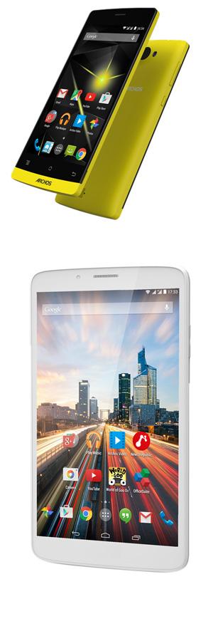 Archos présente sa nouvelle gamme de smartphones et tablettes lors du CES 2015