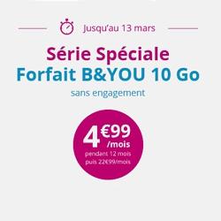 Bouygues : une offre à 10 Go promotionnelle valable jusqu'au 13 mars