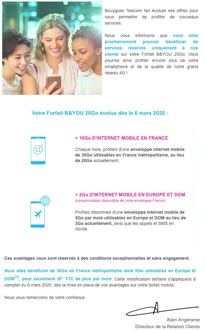 Bouygues Telecom force certains de ses abonnés à payer plus cher leur forfait mobile