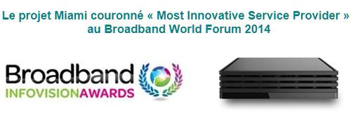 """Bouygues Telecom : la Box Miami a reçu le prix """"Most Innovative Service Provider"""""""