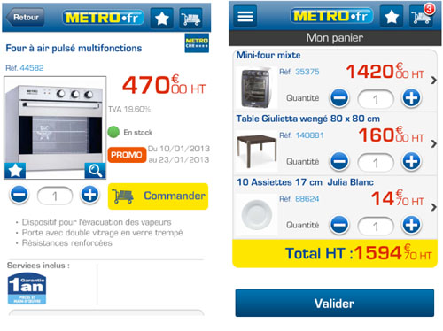 Cash & Carry France dévoile son application M-commerce