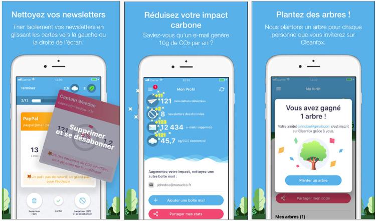 Cleanfox, une application qui s'engage pour la reforestation