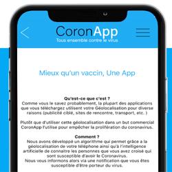 Coronapp, une application pour connaître les personnes infectées en France
