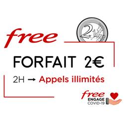 COVID-19 : Free inclut les appels illimités jusqu'au 11 juin pour ses abonnés au forfait mobile 2€/0€