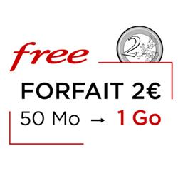 COVID-19 : le forfait 2€ chez Free passe à 1Go de data jusqu'a fin avril