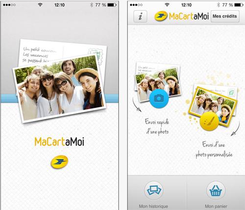 Créez et expédiez des cartes postales via votre smartphone avec La Poste