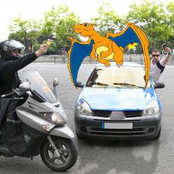 Jouer à Pokémon sur smartphone et au volant est dangereux