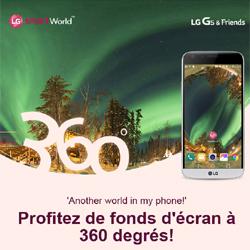 Des fonds d'écran sphériques sont gratuits en téléchargement pour le LG G5