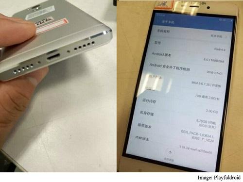 Des photos du Xiaomi Redmi 4 circulent sur le net