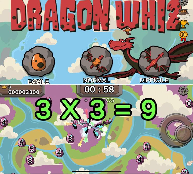 Dragon Whiz, une application dédiée aux enfants pour s'amuser avec les maths