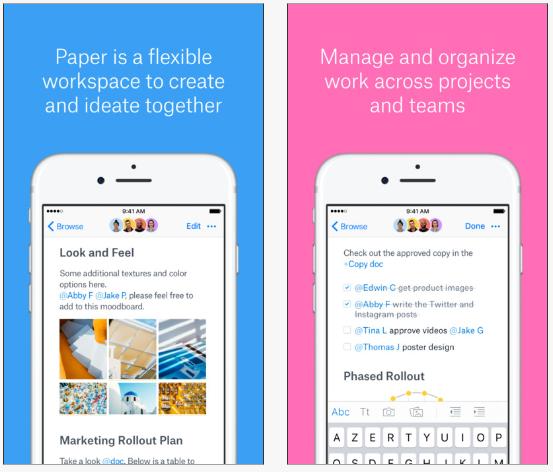 Dropbox : des nouveautés sur son application Paper pour iOS et Android