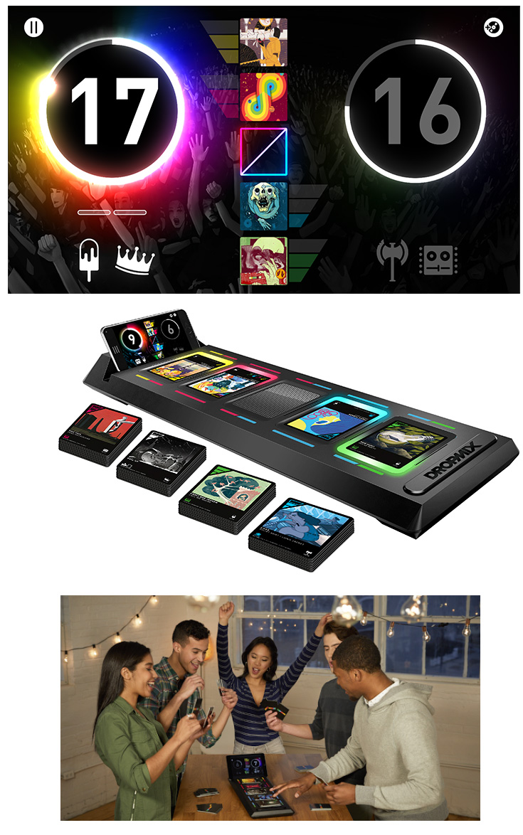 Dropmix, un jeu de mixage couplé à une application mobile
