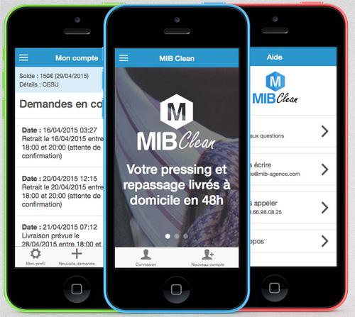 Mib-Clean : une application mobile qui repasse, lave et livre le linge