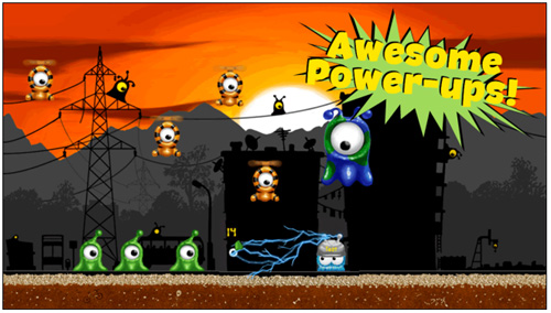 Eyes Attack : un jeu 'tilt and shoot' sur iPhone