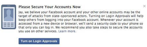 Facebook alertera les utilisateurs attaqués ou épiés par un État