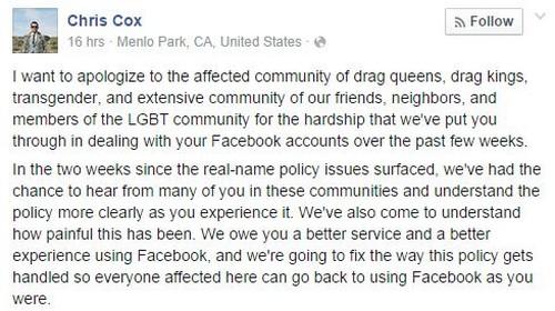 Facebook  autorise finalement les pseudonymes