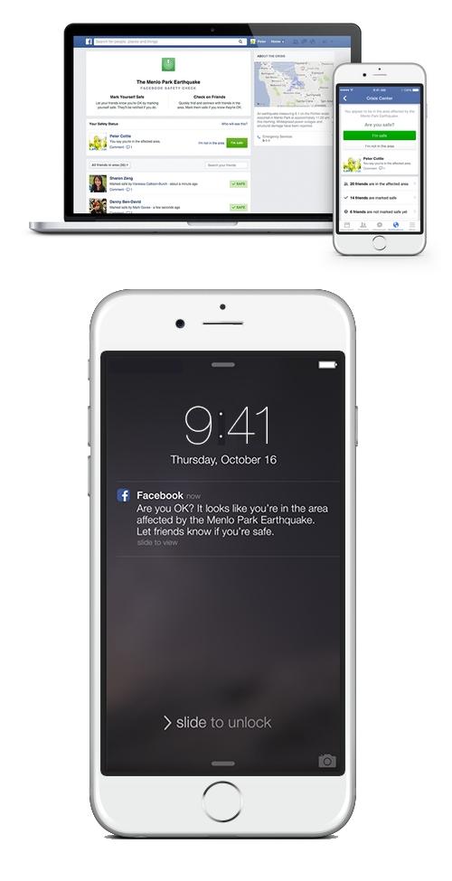 Facebook lance le  service Safety Check pour rassurer les proches