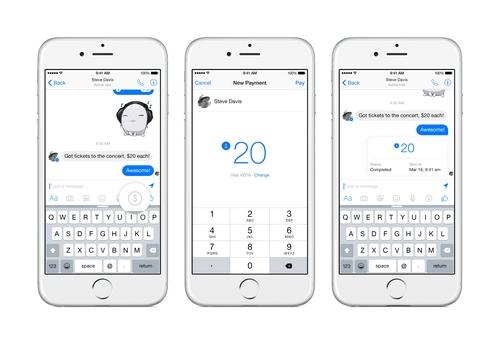 Facebook lance le transfert d'argent à travers Messenger