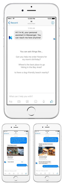 L'assistant personnel de Facebook M est en test à San Francisco