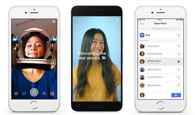 Facebook travaille sur sa caméra et une nouvelle messagerie pour son application principale