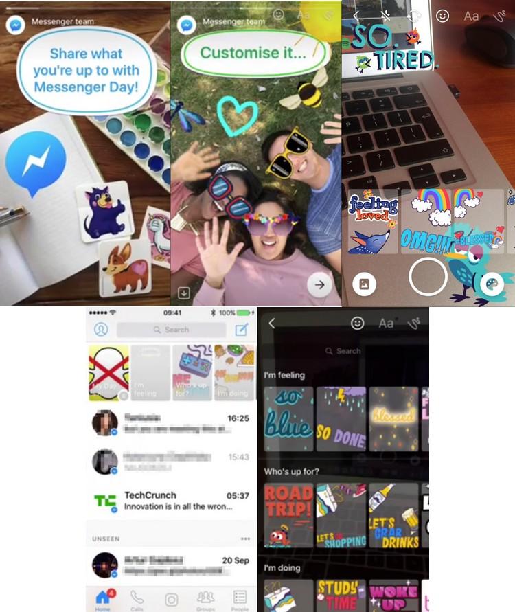 Messenger Day : lorsque Facebook adopte les « stories » de Snapchat pour Messenger