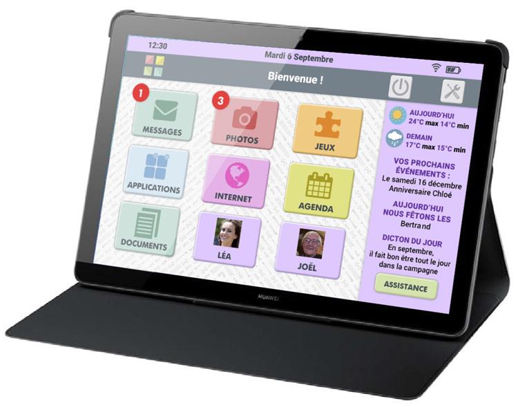 """Facilotab étoffe sa gamme de tablettes simplifiées avec le modèle """"RUBIS"""""""