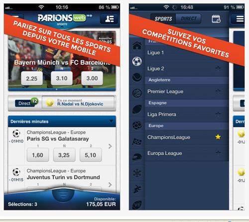 FDJ lance l'application ParionsWeb sur iPhone et iPad