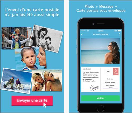 Envoyer facilement de vraies cartes postales depuis un mobile