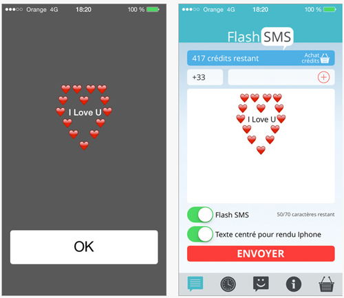 Flash SMS Class 0 permet d'envoyer des SMS sans carte SIM