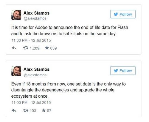 Mettre fin à Flash, l'objectif d'Alex Stamos, chef de la sécurité chez Facebook