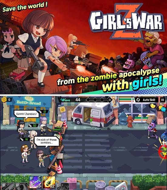 Girl's War Z : un jeu où il faut surtout massacrer des zombies