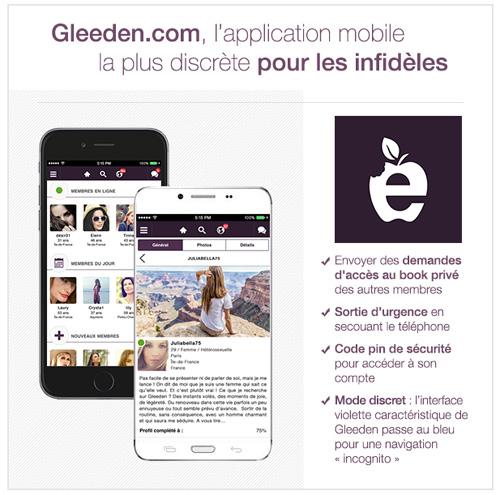 Gleeden.com : une application dédiée aux infidèles