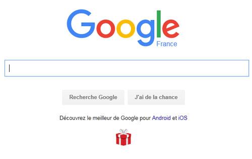 Google met en avant les applications Android et iOS sur sa page d'accueil