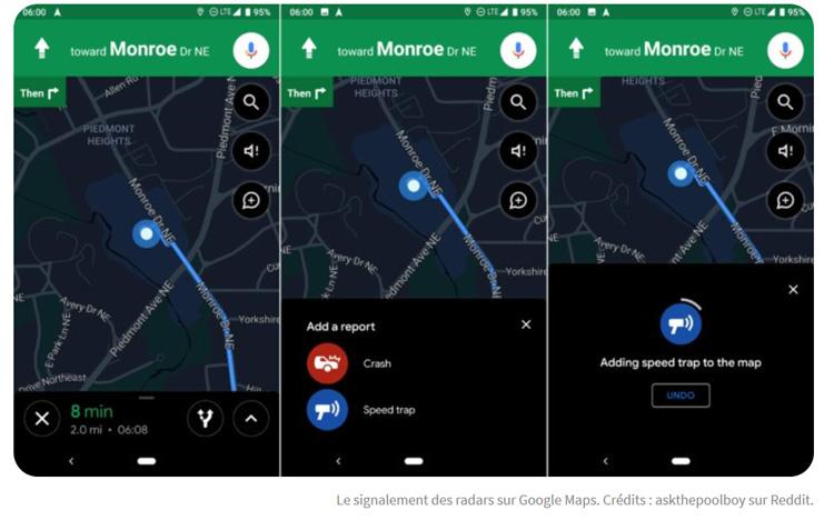 Google Maps va bientôt permettre de signaler les radars et les accidents