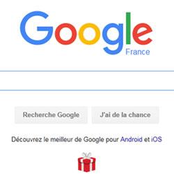 Google affine sa page d'accueil pour ses applications mobiles