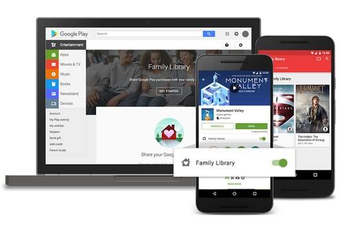 Google ajoute  le partage familial à ses services numériques Play