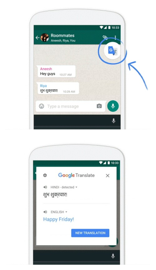 Google Translate : nouvelle fonctionnalité permettant de traduire des textes d'un simple tapotement