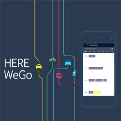HERE WeGo une application pour la mobilité urbaine