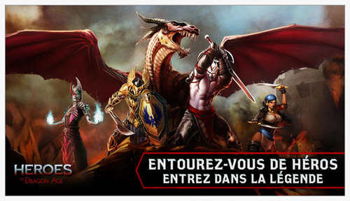 Heroes of Dragon Age est disponible  sur l'App Store et Google Play