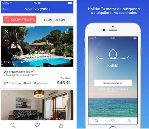 Holidu, une application pour rechercher des locations de vacances de dernière minute