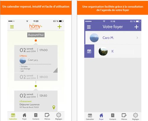Homy+ : une application mobile pour la famille